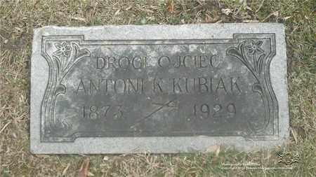 KUBIAK, ANTONI - Lucas County, Ohio | ANTONI KUBIAK - Ohio Gravestone Photos