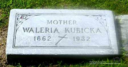 KUBICKA, WALERIA - Lucas County, Ohio | WALERIA KUBICKA - Ohio Gravestone Photos