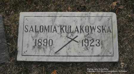 KULAKOWSKA, SALOMIA - Lucas County, Ohio | SALOMIA KULAKOWSKA - Ohio Gravestone Photos