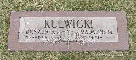 KULWICKI, DONALD D. - Lucas County, Ohio | DONALD D. KULWICKI - Ohio Gravestone Photos