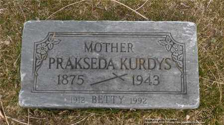 KURDYS, BETTY - Lucas County, Ohio | BETTY KURDYS - Ohio Gravestone Photos