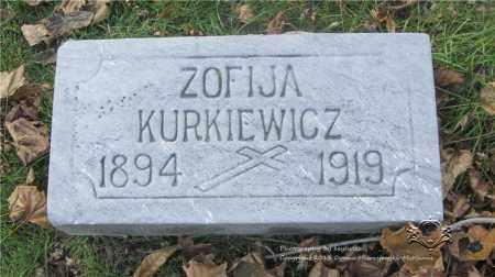 LEWANDOWSKI KURKIEWICZ, ZOFIJA - Lucas County, Ohio | ZOFIJA LEWANDOWSKI KURKIEWICZ - Ohio Gravestone Photos