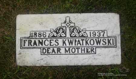 KWIATKOWSKI, FRANCES - Lucas County, Ohio | FRANCES KWIATKOWSKI - Ohio Gravestone Photos