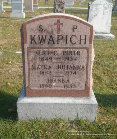 KROLIKOWSKI. KWAPICH, JULIANNA - Lucas County, Ohio | JULIANNA KROLIKOWSKI. KWAPICH - Ohio Gravestone Photos