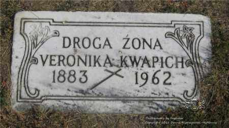 KWAPICH, VERONIKA - Lucas County, Ohio | VERONIKA KWAPICH - Ohio Gravestone Photos