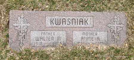 KWASNIAK, ALICE A. - Lucas County, Ohio | ALICE A. KWASNIAK - Ohio Gravestone Photos