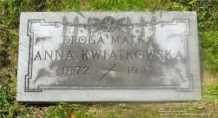 KWIATKOWSKA, ANNA - Lucas County, Ohio | ANNA KWIATKOWSKA - Ohio Gravestone Photos
