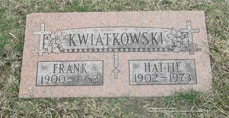 KWIATKOWSKI, HATTIE - Lucas County, Ohio | HATTIE KWIATKOWSKI - Ohio Gravestone Photos