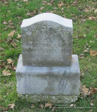 LANGA, KATARZYNA - Lucas County, Ohio | KATARZYNA LANGA - Ohio Gravestone Photos