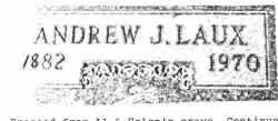 LAUX, ANDREW J. - Lucas County, Ohio | ANDREW J. LAUX - Ohio Gravestone Photos