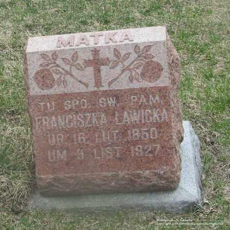 LAWICKA, FRANCISZKA - Lucas County, Ohio | FRANCISZKA LAWICKA - Ohio Gravestone Photos