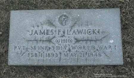 LAWICKI, JAMES F. - Lucas County, Ohio | JAMES F. LAWICKI - Ohio Gravestone Photos