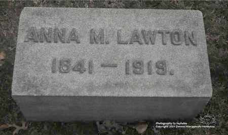 LAWTON, ANNA M. - Lucas County, Ohio | ANNA M. LAWTON - Ohio Gravestone Photos