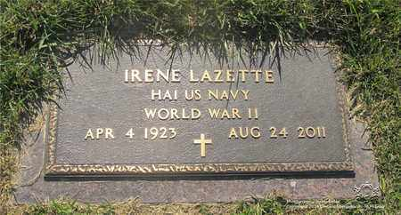 LAZETTE, IRENE - Lucas County, Ohio | IRENE LAZETTE - Ohio Gravestone Photos