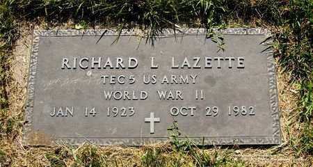 LAZETTE, RICHARD L. - Lucas County, Ohio | RICHARD L. LAZETTE - Ohio Gravestone Photos