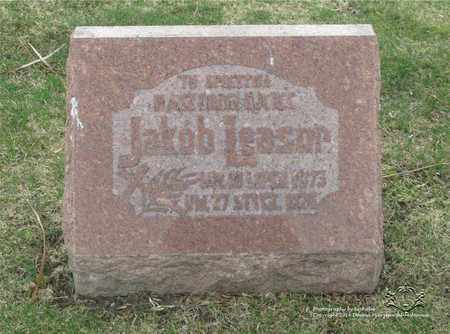 LEASOR, JAKOB - Lucas County, Ohio | JAKOB LEASOR - Ohio Gravestone Photos