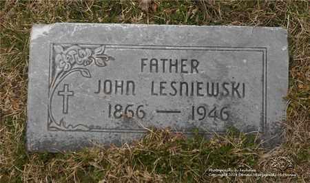 LESNIEWSKI, JOHN - Lucas County, Ohio | JOHN LESNIEWSKI - Ohio Gravestone Photos
