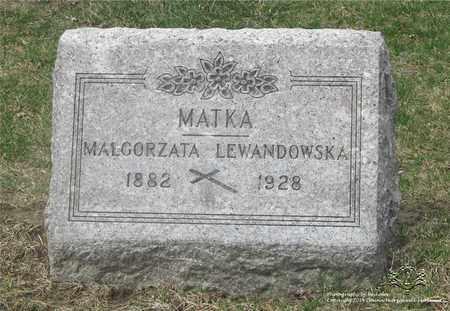 SKRZYNIECKI LEWANDOWSKA, MALGORZATA - Lucas County, Ohio | MALGORZATA SKRZYNIECKI LEWANDOWSKA - Ohio Gravestone Photos