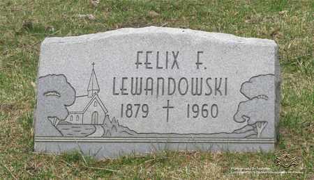 LEWANDOWSKI, FELIX F. - Lucas County, Ohio   FELIX F. LEWANDOWSKI - Ohio Gravestone Photos