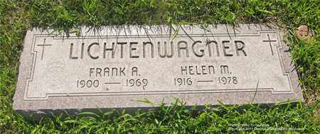 LICHTENWAGNER, FRANK A. - Lucas County, Ohio | FRANK A. LICHTENWAGNER - Ohio Gravestone Photos