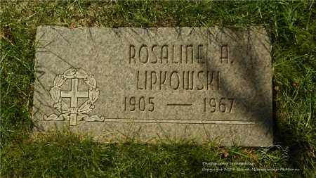 LIPKOWSKI, ROSALINE A. - Lucas County, Ohio | ROSALINE A. LIPKOWSKI - Ohio Gravestone Photos