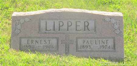 LIPPER, ERNEST - Lucas County, Ohio | ERNEST LIPPER - Ohio Gravestone Photos