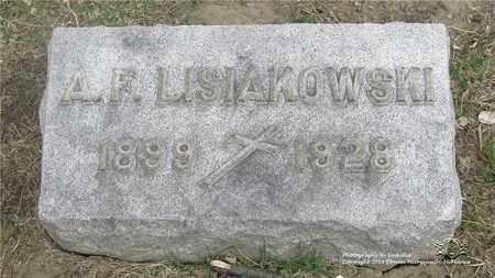 LISIAKOWSKI, A.F. - Lucas County, Ohio | A.F. LISIAKOWSKI - Ohio Gravestone Photos