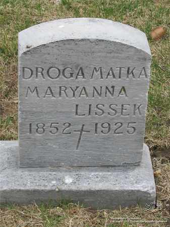 LISSEK, MARYANNA - Lucas County, Ohio | MARYANNA LISSEK - Ohio Gravestone Photos