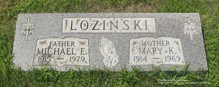 LOZINSKI, MARY K. - Lucas County, Ohio | MARY K. LOZINSKI - Ohio Gravestone Photos
