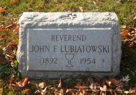LUBIATOWSKI, JOHN F. - Lucas County, Ohio | JOHN F. LUBIATOWSKI - Ohio Gravestone Photos