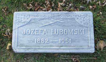 LUBOMSKI, JOZEFA - Lucas County, Ohio | JOZEFA LUBOMSKI - Ohio Gravestone Photos