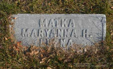 LUZNA, MARYANNA H. - Lucas County, Ohio | MARYANNA H. LUZNA - Ohio Gravestone Photos