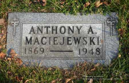 MACIEJEWSKI, ANTHONY A. - Lucas County, Ohio | ANTHONY A. MACIEJEWSKI - Ohio Gravestone Photos