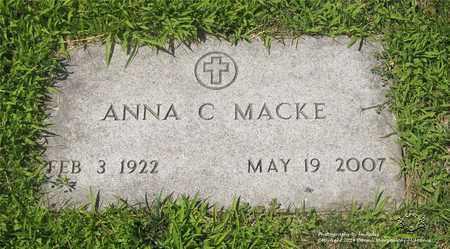MACKE, ANNA C. - Lucas County, Ohio | ANNA C. MACKE - Ohio Gravestone Photos
