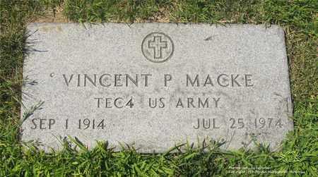 MACKE, VINCENT P. - Lucas County, Ohio   VINCENT P. MACKE - Ohio Gravestone Photos