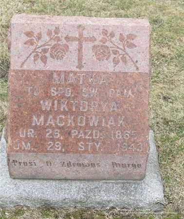 MACKOWIAK, WIKTORYA - Lucas County, Ohio | WIKTORYA MACKOWIAK - Ohio Gravestone Photos