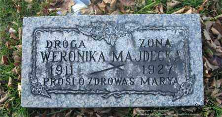 MAJDECKA, WERONIKA - Lucas County, Ohio | WERONIKA MAJDECKA - Ohio Gravestone Photos