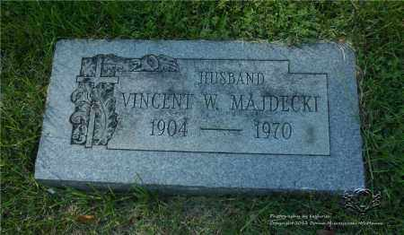 MAJDECKI, VINCENT W. - Lucas County, Ohio | VINCENT W. MAJDECKI - Ohio Gravestone Photos