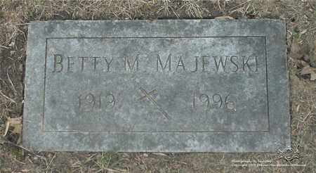 MAJEWSKI, BETTY M. - Lucas County, Ohio | BETTY M. MAJEWSKI - Ohio Gravestone Photos