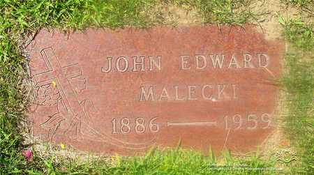 MALECKI, JOHN EDWARD - Lucas County, Ohio | JOHN EDWARD MALECKI - Ohio Gravestone Photos