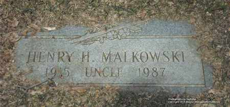 MALKOWSKI, HENRY H. - Lucas County, Ohio | HENRY H. MALKOWSKI - Ohio Gravestone Photos