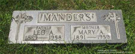 MANDERS, MARY A. - Lucas County, Ohio | MARY A. MANDERS - Ohio Gravestone Photos