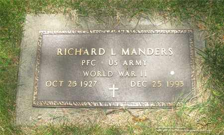 MANDERS, RICHARD L. - Lucas County, Ohio | RICHARD L. MANDERS - Ohio Gravestone Photos