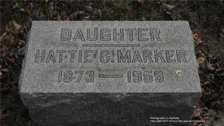 MARKER, HATTIE G. - Lucas County, Ohio | HATTIE G. MARKER - Ohio Gravestone Photos