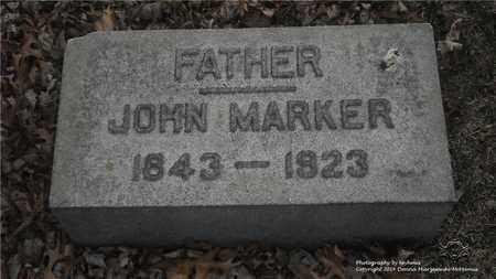 MARKER, JOHN - Lucas County, Ohio | JOHN MARKER - Ohio Gravestone Photos