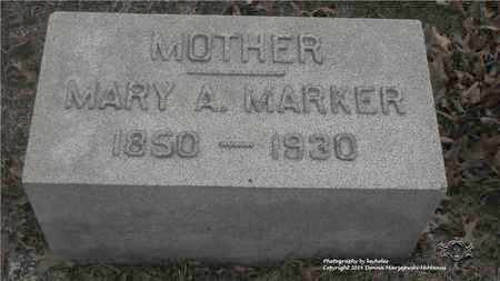 MARKER, MARY A. - Lucas County, Ohio | MARY A. MARKER - Ohio Gravestone Photos