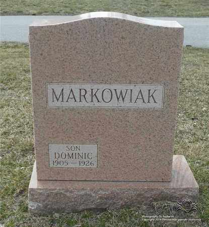 MARKOWIAK, DOMINIC - Lucas County, Ohio | DOMINIC MARKOWIAK - Ohio Gravestone Photos