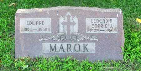 MAROK, LEOCADIA CARRIE J. - Lucas County, Ohio | LEOCADIA CARRIE J. MAROK - Ohio Gravestone Photos