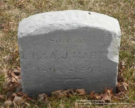MARTIN, CHILD - Lucas County, Ohio | CHILD MARTIN - Ohio Gravestone Photos