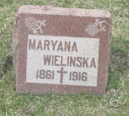 WALENTOWSKA WIELINSKA, MARYANA - Lucas County, Ohio | MARYANA WALENTOWSKA WIELINSKA - Ohio Gravestone Photos